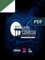 Programa XIII Larga Noche de Museos 2019