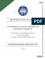 Buffalo Comptroller Amended 2019-2020 Budget Response
