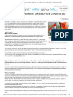 Manifesto Versus Manifesto_ What BJP and Congress Say on Major Issues - The Economic Times