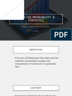 MATH 103 Module 1_Statistics Introduction