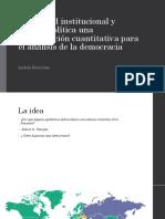 Capacidad Institucional y Cultura Política Una Aproximación Cuantitativa
