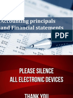 CFPM Lecture 3,4 - Accounting Principals & Financial Statements