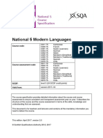 Modern Languages Course Spec n 5