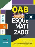 OAB Esquematizado - Primeira Fase - Volume Único - Pedro Lenza - 2018