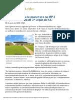 ConJur - Envio de Cópias de Processos Ao MP é Dispensável, Decide STJ