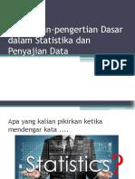 Pertemuan Ke 2_Pengertian Dan Penyajian Data