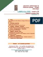 LAMPEA-Doc 2010 - numéro 35 / Vendredi 5 novembre 2010
