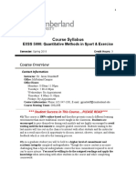 EXSS5990 Syllabus (Spring 2019 Quantitative)