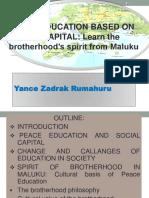 Peace Education Based on Social Capital