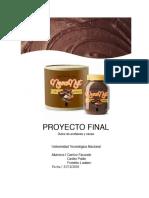 Fabricación de Dulce de Cacao y Avellanas