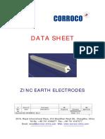 ZINC Earth Electrode3 Data Sheet