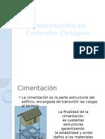 Cimentacion en Concreto Ciclopeo