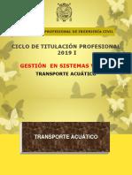 Clase Transporte Acuático 19-05-2019