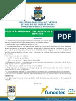 prova Prefeitura de Tupandi Agente Administrativo