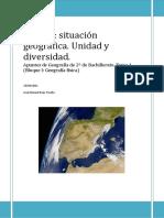Tema1.Situacion Geográfica. Unidad y Diversidad