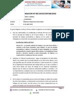 Recomendacion Nº 002-2019 Jornada de Ocho Horas