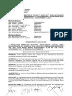 Municipal Resolution No. 2014-09-250 - Solid Waste 10 Year Plan