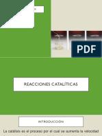 Reacciones Catalíticas (1) (1) (1) (1)