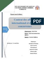 Contrat des affaires international et droit de concurrence final1.docx