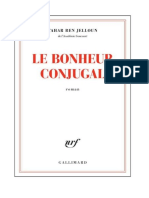 Tahar Ben Jelloun Le Bonheur Conjugal