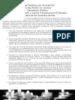 Declaracion Contra Ley Impunidad El Salvador