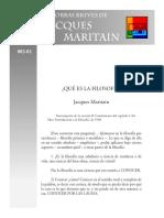 Maritain Jacques - Que Es La Filosofia.PDF