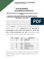 Acta de Entrega - Comite - Reservorio