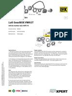 Luk Product Info GearBOX VW 02T