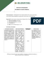 INFORMES DE AVANCE SEMANAL PROYECTOS