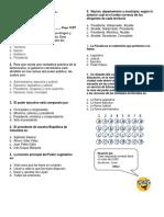 Evaluación de Sociales Ramas Del Poder Público