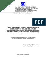 Cambios Relaciones Hombre Ambiente II Puente Orinoco