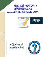 Citado y Referencias Apa
