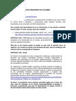 Concepto de Derecho Financiero en Colombia