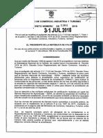 Decreto 1366 Del 31 de Julio de 2018