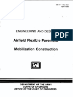 - Airfield Flexible Pavement - Mobilization Construction - Engineering and Design (EM 1110-3-141)-U.S. Army Corps of Engineers (2009)