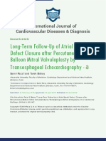 IJCDD-ID28 Long-Term Follow-Up of Atrial Septal Defect Closure after Percutaneous Balloon Mitral Valvuloplasty by Transesphageal Echocardiography