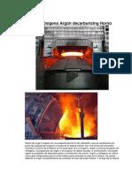 AOD Oxígeno Argón Decarburizing Horno