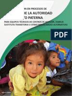 Derecho Vivir Familia Cochabamba - Ruta Atencion Extincion Autoridad Materna y o Paterna