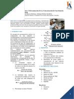Preparación de Soluciones y Determinación de La Concentración de Una Solución Por Medio de La Densidad