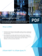 steam purity for turbine application by EPRI standard
