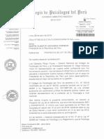 Oficio Del Colegio de Psicólogos a Martín Vizcarra