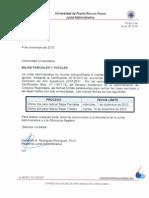 Carta Fecha Bajas Parciales y Totales