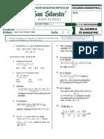 Bimestral de Álgebra 2y3