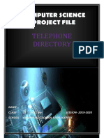 Class 12 Computer Science project on Telephone Directory for C++