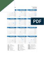 Calendario 2028