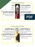Prece de Longa Vida de Sua Santidade Dalai Lama e Sua Santidade Karmapa