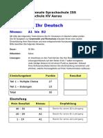 Deutsch - Einstufungstest a1 Bis b2