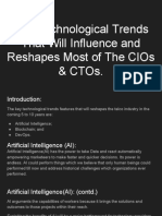Key Technological Trends That Will Influence and Reshapes Most of the CIOs & CTOs