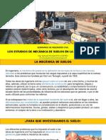 Los Estudios de Mecáncia de Suelos en La Ingenieria Civil