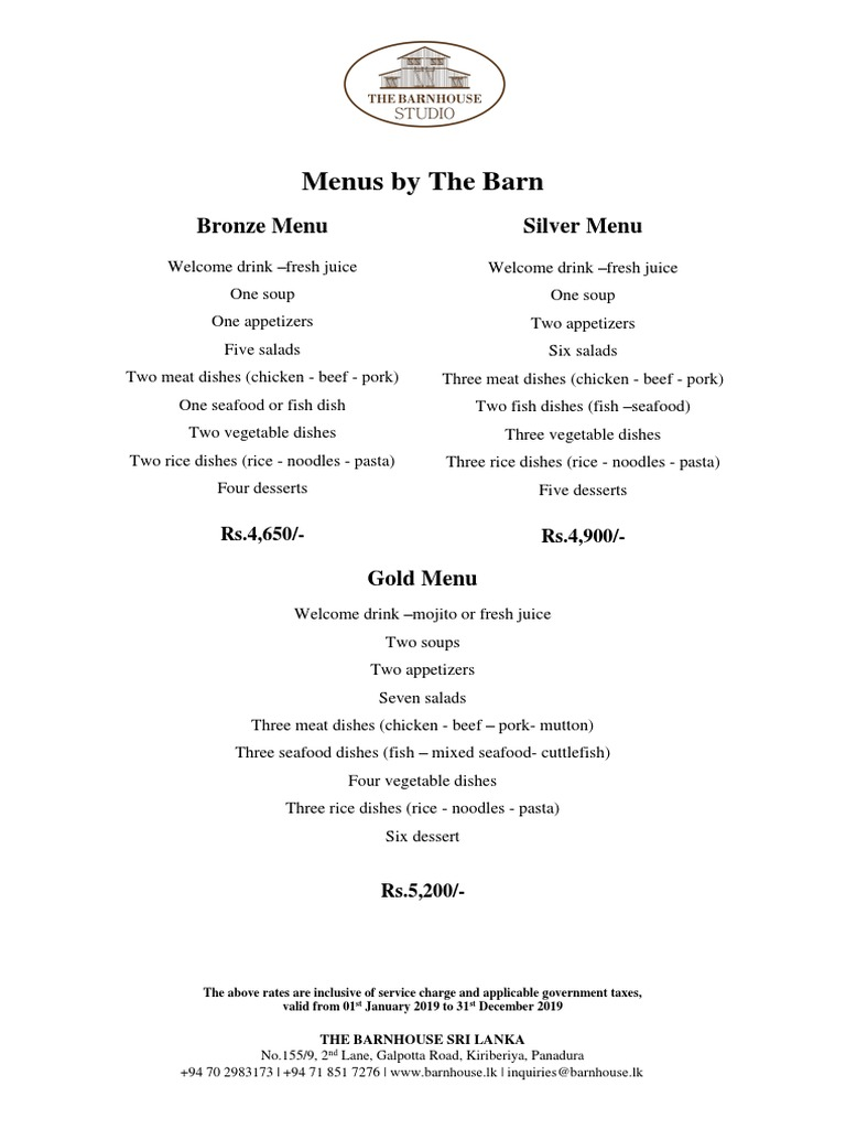 2019 Wedding Packages Menus By The Barn Copy Lamb And Mutton Curry